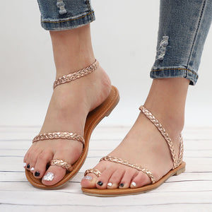 Rome Style Female Sandal Low Heels