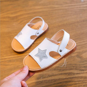 Baby Girls Sandals Kids Summer Fashion Baby Girls Roma Beach Star Printed Princess Sandals For Little Girl's Shoes