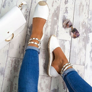 Summer Female Sandals New 2018 Shoes Hot Sell Fashion Closed Toe Women Girls Ankle Strap Shoes Plus Size 42 43