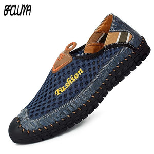 Summer Mens Shoes Plus Size 38-46 Mens Designer Trainers For Men Air Mesh New Slip On Man Loafer Summer Fashion Casual Shoes