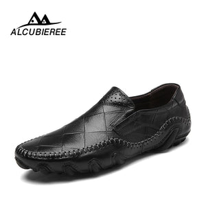 Designer Causal Shoes Men Genuine Leather Loafers Flat Slip On Moccasins Male Sneakers Adult Oxford Shoes Luxury High Quality