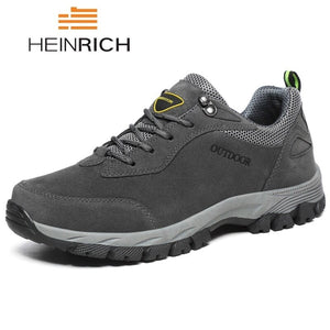 HEINRICH Men Shoes Big Size Fashion Suede Comfortable Outdoor Casual Shoes Non-Slip Mens Sneakers Footwear Zapatillas Hombres