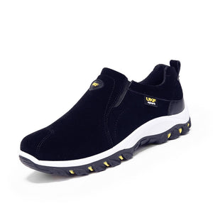 39-44 Winter Shoes Men Slip On Cotton Lining Men Boots Anti skidding Winter Boots Men Yellow Black Blue Gray