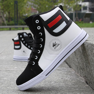 Fashion Men Leather Boots Winter Warm Cotton Ankle Boots Hip-Hop Casual Men Shoes Autumn High-Top Shoes Man Sneakers Big Size 45