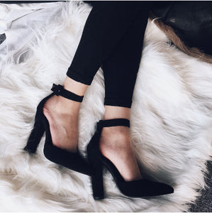 Summer Women Sandals Pumps Fashion Ladies High Heels Zapatos Mujer Ankle Strap Pointed Toe Pumps Women Shoes Woman