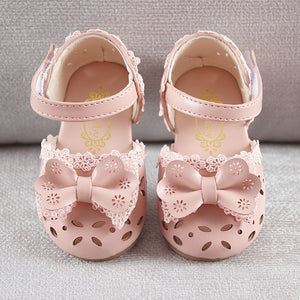 Sweet Children Sandals For Girls Toddler Baby Breathable Hoolow Out Bow Shoes