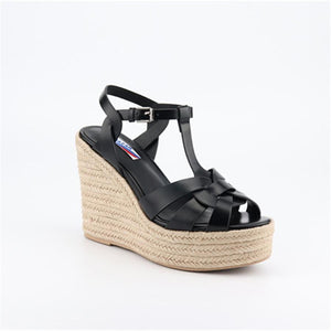 wedge with women's sandals feet nude with fish mouth women's shoes rubber sole sexy women's sandals