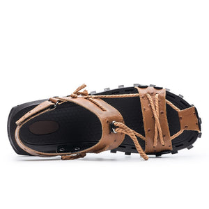 ZUNYU 2019 Summer New Genuine Leather Outdoor Shoes Men Sandals Male Casual Classic Water Walking Beach Sandalias Sandal Size 47