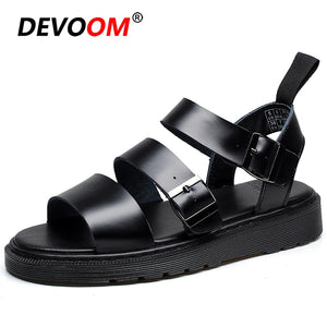 Fashion Leisure Couple Rope Sandals Rome Red Sandalen Heren Martin Native Shoes Mens Gladiator Sandals Mens Leather Sandal 35-45
