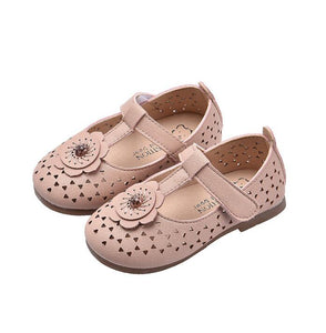 Spring/Summer Kids Leather Shoes Sweet Flowers Princess Baby Shoes Comfortable Children Shoes Girls Flat Shoes