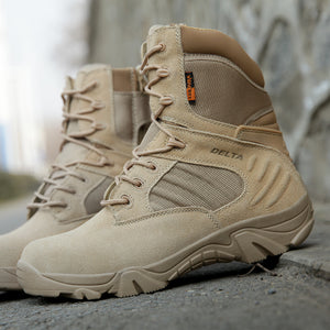 Spring Men Military Army Boots Special Force Waterproof Leather Desert Combat Work Shoes Tactical Ankle Boots Mens