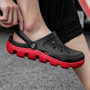 Men Croc Shoes Casual Slip-on Clogs 2019 New Summer Hollow-out Water Sandals Breathable&light Slippers Flip-flops Big Size 39-47