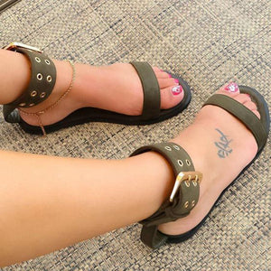 Jelly Sandals Women Gladiator Flat Sandals Ladies Casual Shoes Clear Beach Shoes Buckle Strap Sexy Vintage Sandalia Feminina