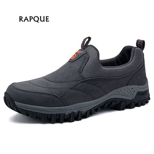 Male Walking shoes men Outdoor Athletic Shoes non-slip rubber Mens Sneakers faux suede Man footwear dad shoes big size 38-46
