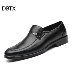 DBTX Men Leather Shoes Mens Loafers Casual Shoes Formal Comfortable Classic Man Oxfords Shoes Business Male Footwear Moccasins