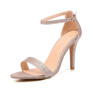 KARINLUNA Small Big Size 30-45 Brand New Ankle Strap Women Shoes Sexy Thin High Heels Party Wedding Sandals Lady Footwear