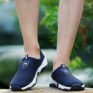 PINSV Summer Shoes Men Sneakers Mesh Footwear Men Casual Shoes Blue Outdoor Loafers Men Water Shoes 2018 Plus Size 39-45