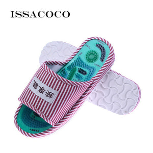 ISSACOCO New Home Slippers Acupoint Massage Slippers Foot Massage Shoes Home Women Slippers Indoor Slipper Zapatillas Pantuflas
