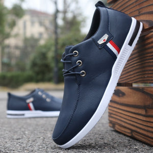 Brand men shoes casual men leather shoes breathable comfortable lace up men shoes sneakers driving shoes man flat zapatos hombre