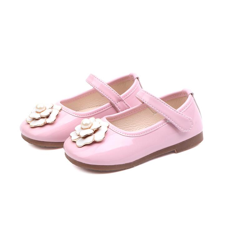 Kids Girls Leather Shoes Student School Shoes 212