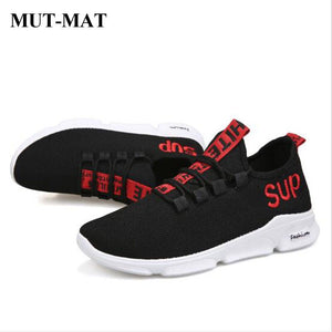 2019 New Embroidered Letters Men Sneakers Breathable College Style Mesh Casual Shoes Couple Lover Men Mesh Shoes Lace up Shoes