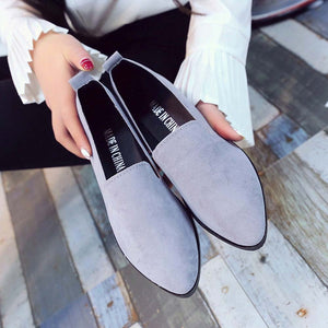 2019 Spring Women Loafers Flats Shoe Women Casual Shoes Suede Slip on Boat shoes Female Shoe Comfortable Ballet Flats Size 35-40