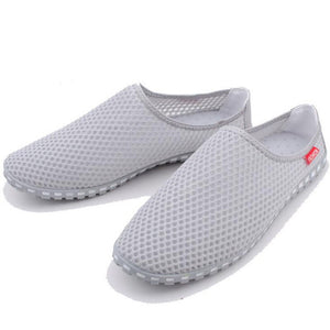 Tangnest New Summer Men Mesh Shoes 2018 Casual Breathable Light Shoes For Man Slip-on Network Flats Man Beach Slippers XMT208