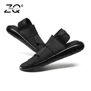 ZOQI New Fashion Summer Beach Breathable Men Sandals Genuine Leather Men's Sandal Man Causal Shoes