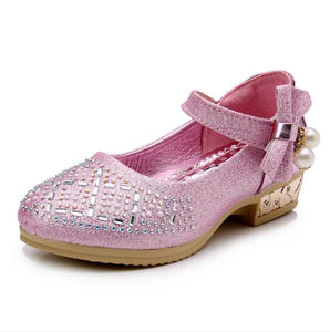Girls Leather Shoes Spring Autumn Children Girls Princess Shoes Fashion Diamond Girls Baby Soft Cute Shoes