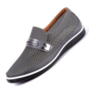 Ake Sia New Summer Mesh Shoes Men Slip-On Flats Out Comfortable Father Shoes Man High-end Shoes Lightweight  Moccasins size