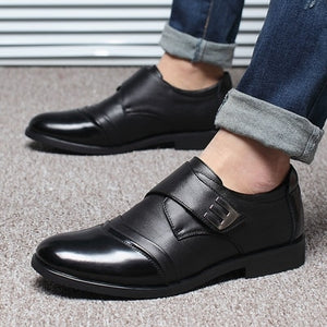NPEZKGC Hot Sale Genuine Leather Black Brown Men Flats Shoes,Hand Sewing Men Oxfords Zapatos Hombres,Trendy Men Leather Shoes