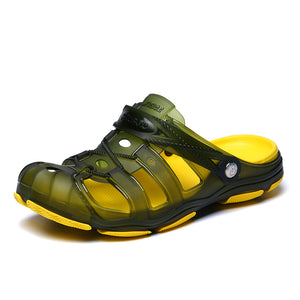 Jelly Shoes Slip-on Sandals Men Breath Mens Sandals Summer Outdoor Beach Sandals Casual Slippers Croks Sandalias Croc Clogs Men
