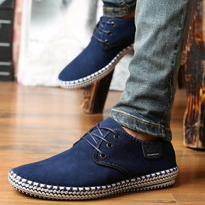 Men sneakers 2018 new fashion summer shoes men slip on shoes high end handmade suede breathable non-slip men casual shoes