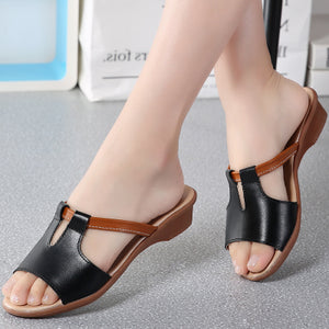 Genuine Leather Flip Flop Sandals For Women
