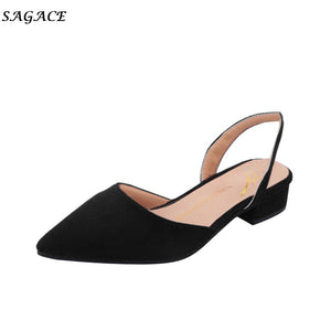 Women Pumps Ankle Strap Thick Heel