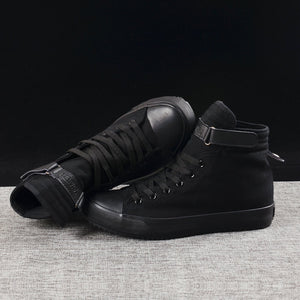 Fashion Sneakers Men Shoes Male Canvas Shoes High top Sneakers Men Casual Shoes Black White Cloth Footwear KA797