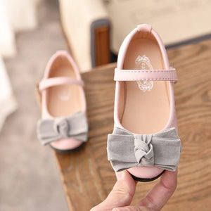 Girl Wedding Party Princess Leather Shoes Perform Shoes For Girls Kids Baby Single Bow Shoes