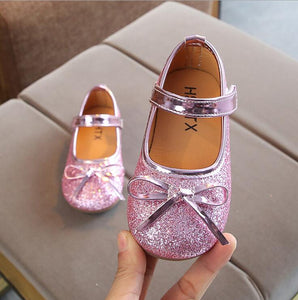 New Spring Summer Baby Kids Shoes Girls Pu Leather Shoes Girls Princess Bowtie Dress Shoes Toddler Girls Dress Shoes