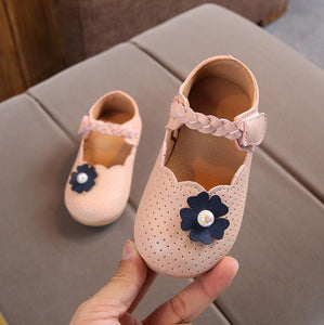 Autumn Fashion Girls Shoes Flower Bead Fashion Princess Slip-on Toddlers Children Casual Shoes For Girls Shoes