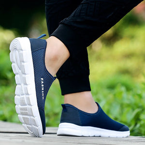 ZOQI Unisex Casual Light Sneakers Men Breathable Mesh Flat Shoes Men Fashion Mocassim Masculino Slip On Loafers Casual Shoes