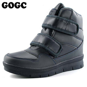 GOGC Warm Men Winter Ankle Boots Brand New Non-slip Winter Men Shoes High Quality Men Footwear Winter Boots Snow Boots 9634