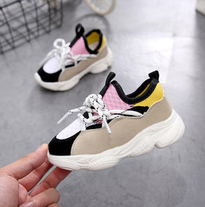 2019 New Fashionable Kids Breathable Pink Leisure Sports Running Shoes For Girls Princess Shoes For Boys Kids Sneakers
