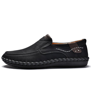 Men Casual Driving Shoes 2018 Leather Loafers Shoes Men Fashion Handmade Soft Breathable Moccasins Flats Slip on Footwear Male