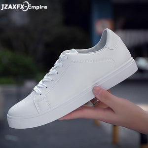 2018 Summer New Men Casual Flat Shoes Lace-up Comfortable tenis masculino adulto Male White Loafers Shoes
