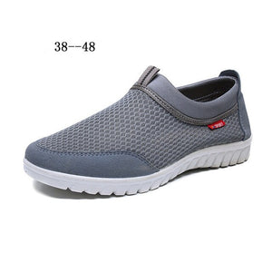 QIYHONGNew Men'S Shoes 2018 High-End Shoes Breathable Casual Shoes Fashion Comfortable Soft-Soled Shoes Mesh Flat Shoes XL 38-48