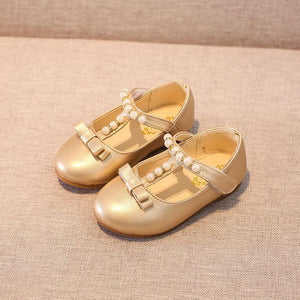 Hot Children Princess Shoes Girls Sequins Beads Kids Dress Shoes For Girls Silver Gold Shoes Kids Fashion Flat Baby Size 31-35