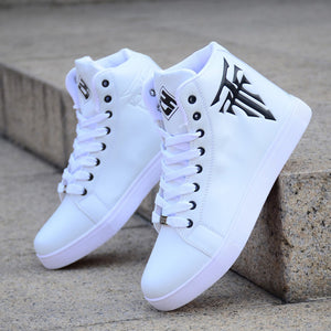 Spring Men's Shoes Korean Version Of The Trend Of High-top Shoes Men's White Casual Wild Shoes