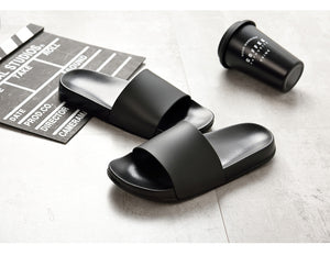 Men Slippers Casual Black And White Shoes