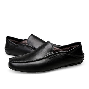 Italian Men Shoes Casual Luxury Brand Summer Mens Loafers Genuine Leather Moccasins Breathable Slip on Boat Shoes Black rtg6