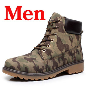 Winter Men Boots PU Outdoor Snow Ankle Boots Male Lace Up Anti-slip Booties British Martin Shoes Plus Size 46 Zapatos De Hombre